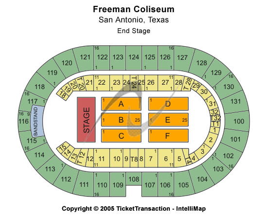 Freeman Coliseum Seating Map
