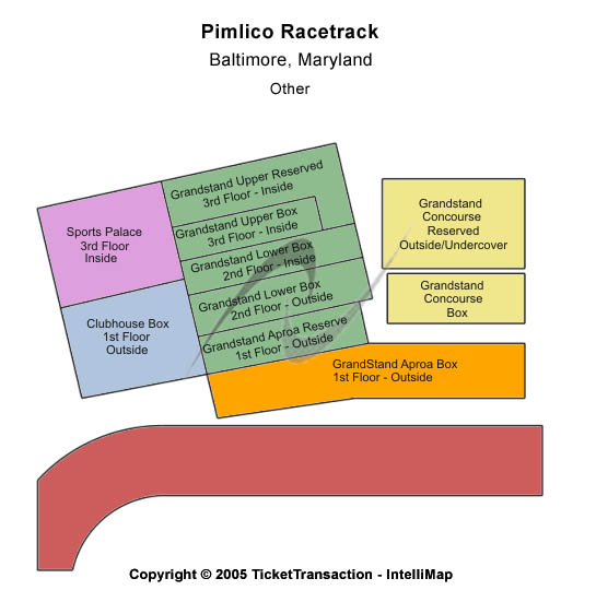 Pimlico Race Course Seating Map