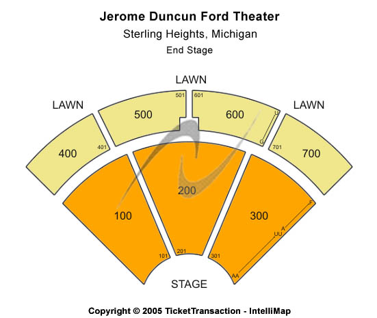Freedom Hill Amphitheatre Seating Map