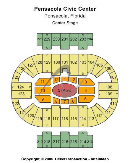 Ringling Bros Tickets Seating Chart Pensacola Bay