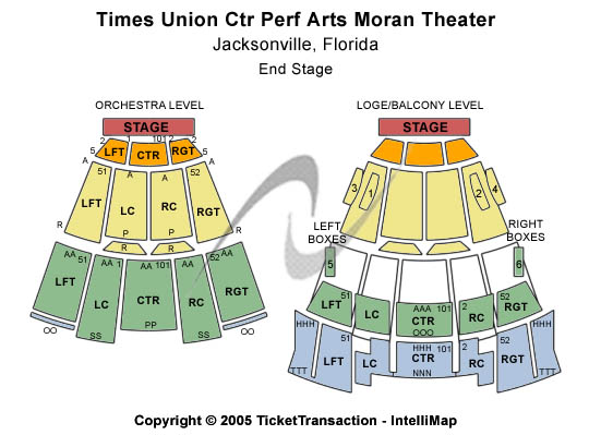 Times Union Ctr Perf Arts Moran Theater Seating Chart