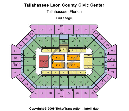 Donald L. Tucker Center At Tallahassee Leon County Civic Center Seating Chart