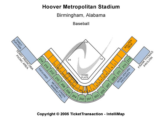 Regions Park Seating Map