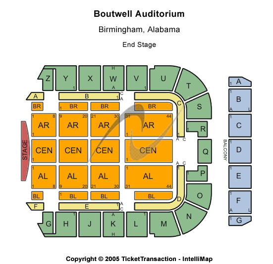 Boutwell Auditorium Seating Chart