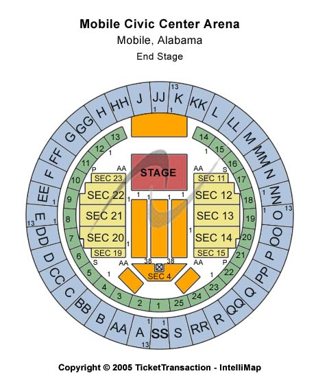 Mobile Civic Center Arena Seating Chart