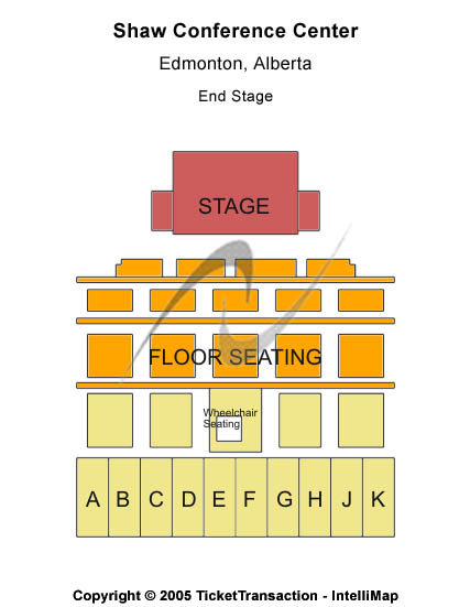 Shaw Conference Centre Seating Map