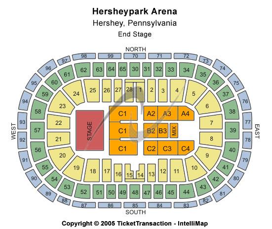 Hersheypark Arena Seating Chart