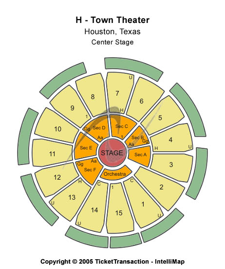 Htown Arena Theatre Seating Map