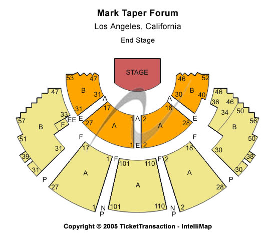 Mark Taper Forum Seating Chart