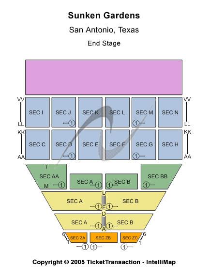 Sunken Gardens Seating Chart