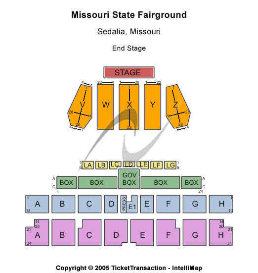 Missouri State Fairground Seating Map