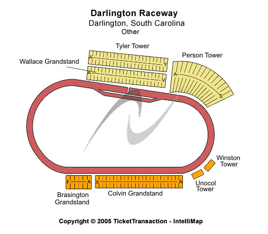 Darlington Raceway Seating Map