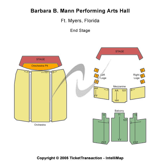 Barbara B Mann Performing Arts Hall Seating Map