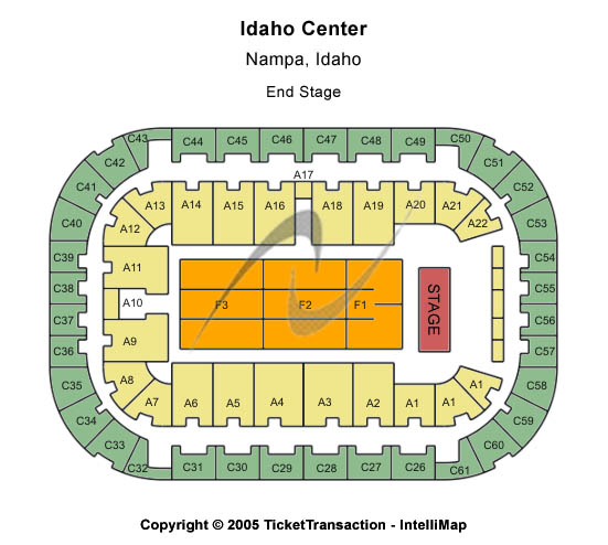 Idaho Center Seating Map