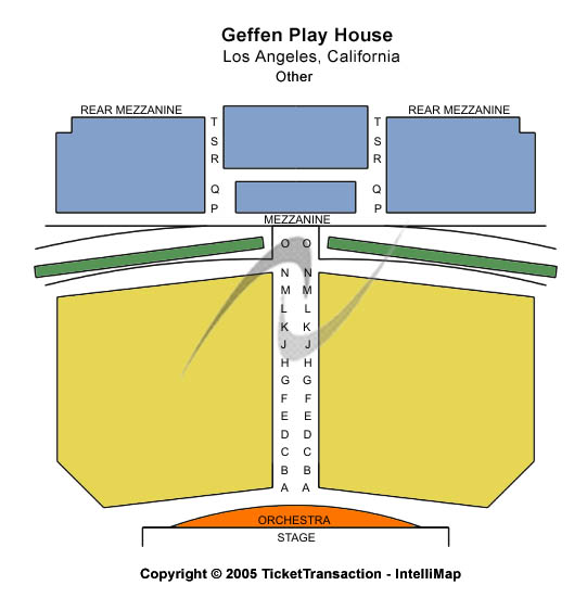 Gil Cates Theater At Geffen Playhouse Seating Chart