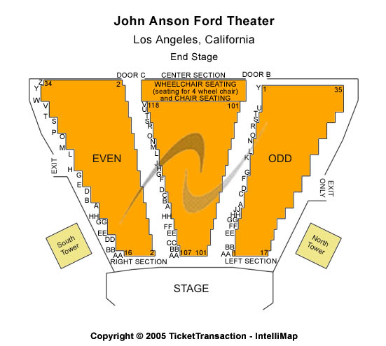 John Anson Ford Theatre Seating Chart