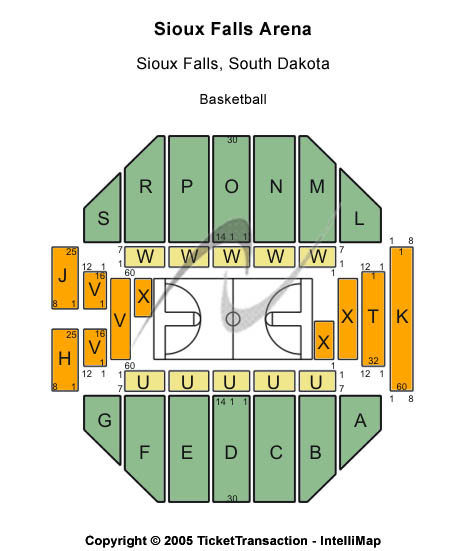 Michael W. Smith Tour - Sioux Falls Arena Seating Chart - Ba