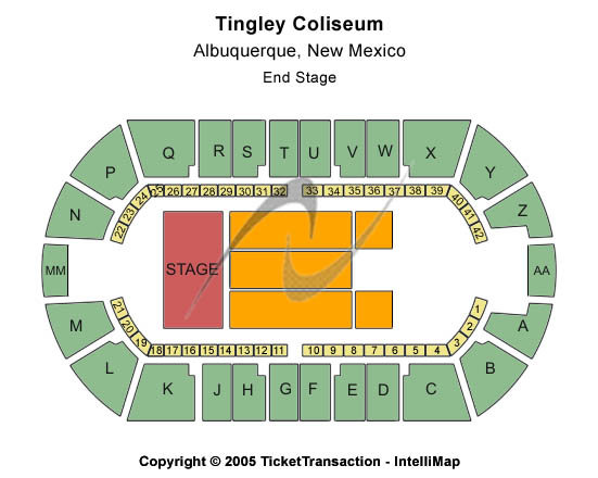 Tingley Coliseum Seating Chart