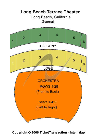 Terrace Theater Seating Chart