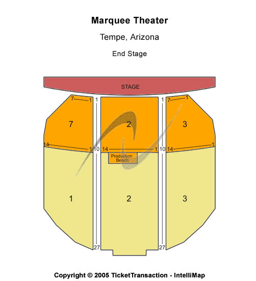 Marquee Theatre-az Seating Map