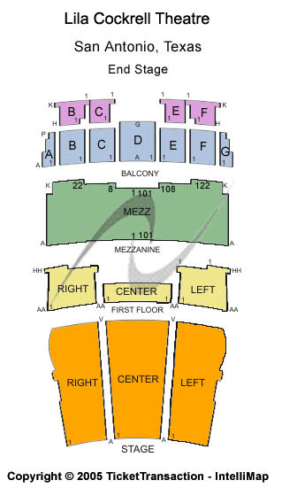 Lila Cockrell Theatre Seating Chart