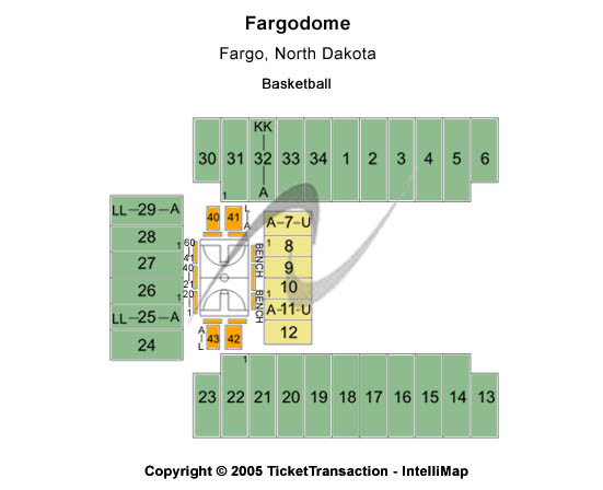 Fargodome Seating Chart: Basketball