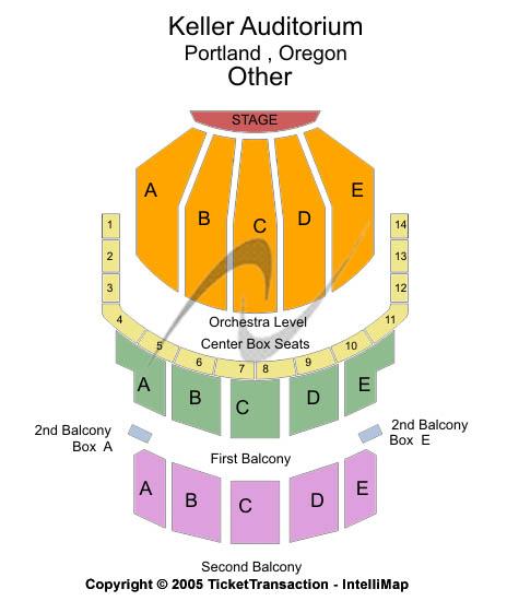 Keller Auditorium Seating Chart