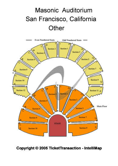 Nob Hill Masonic Center Seating Chart