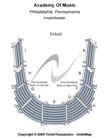 Academy Of Music Seating Chart: T-Stage