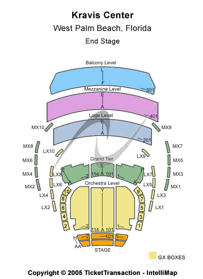 Kravis Center Seating Chart
