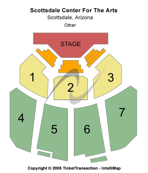 Scottsdale Center Seating Map