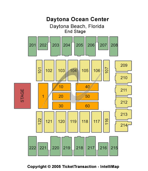 Daytona Beach Ocean Center Seating Chart