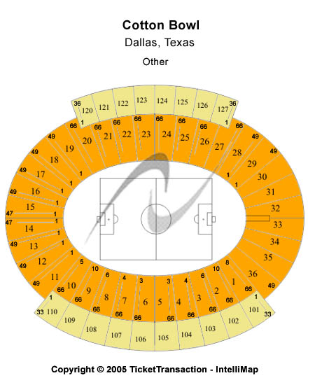 Cotton Bowl Stadium Seating Chart