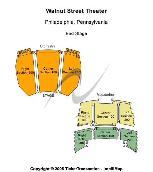 Walnut Street Theatre Seating Chart