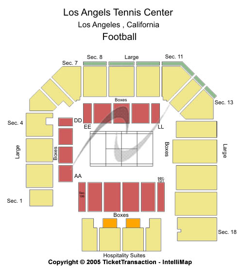 Los Angeles Tennis Center Seating Map