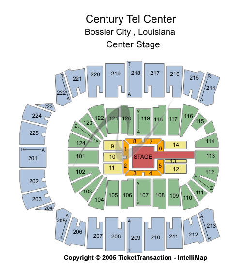 Centurytel Center Seating Map