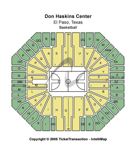 Don Haskins Center Seating Map