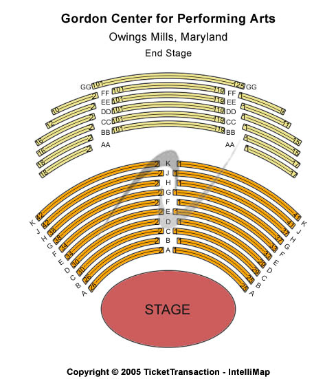 Gordon Center For Performing Arts Seating Chart