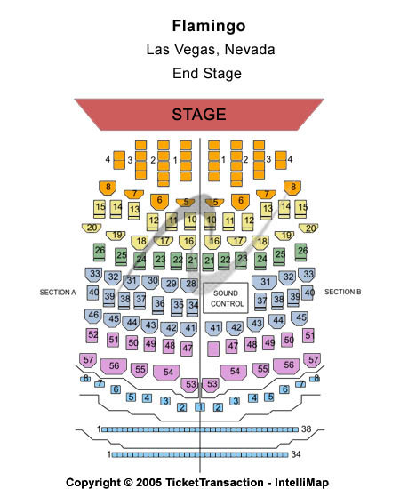 Donny & Marie Showroom Seating Chart