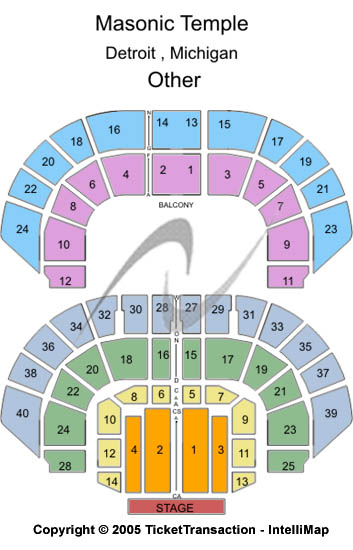 Masonic Temple Theatre Seating Map