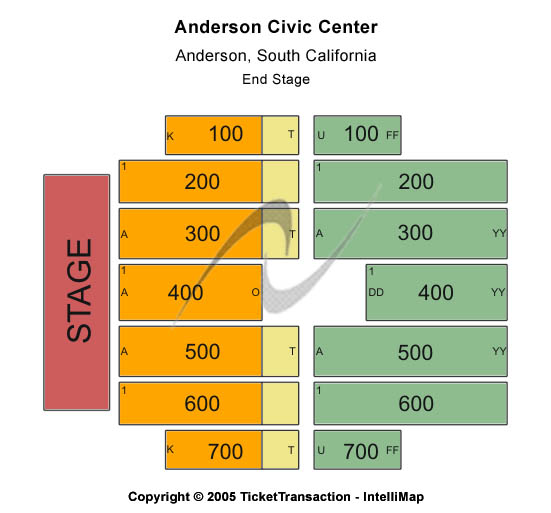 Anderson Civic Center Seating Chart