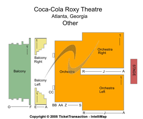 Roxy Theatre Seating Chart