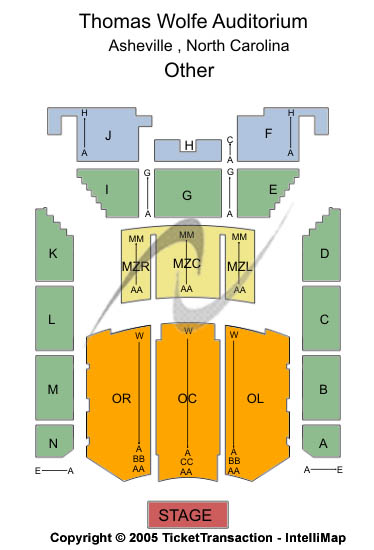 Thomas Wolfe Auditorium at U. S. Cellular Center Seating Chart
