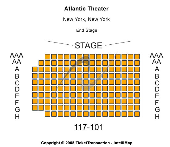 Atlantic Theater Seating Map