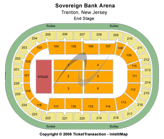 Sun National Bank Center Seating Chart