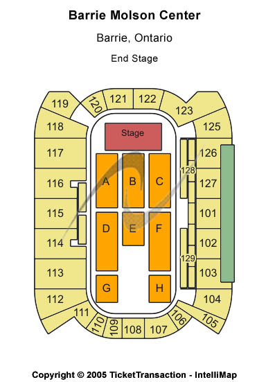 Barrie Molson Centre Seating Chart