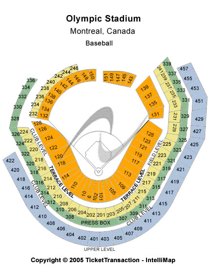Olympic Stadium-qc Seating Map