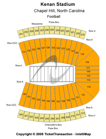 Kenan Stadium Seating Map