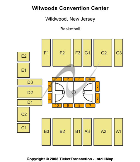 Wildwoods Convention Center Seating Map