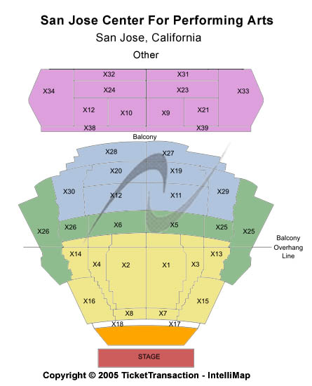 San Jose Center For The Performing Arts Seating Chart